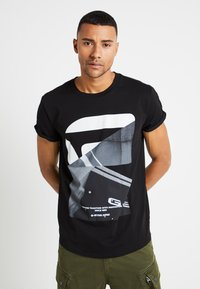 G-Star - SHELO RELAXED R T S/S - Camiseta estampada - dark black - 0
