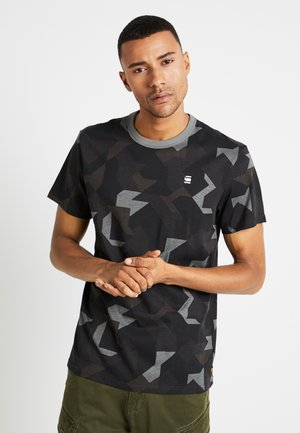 REGULAR R T S/S - T-shirt med print - black