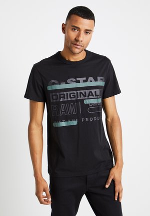 REGULAR  - T-shirt med print - black