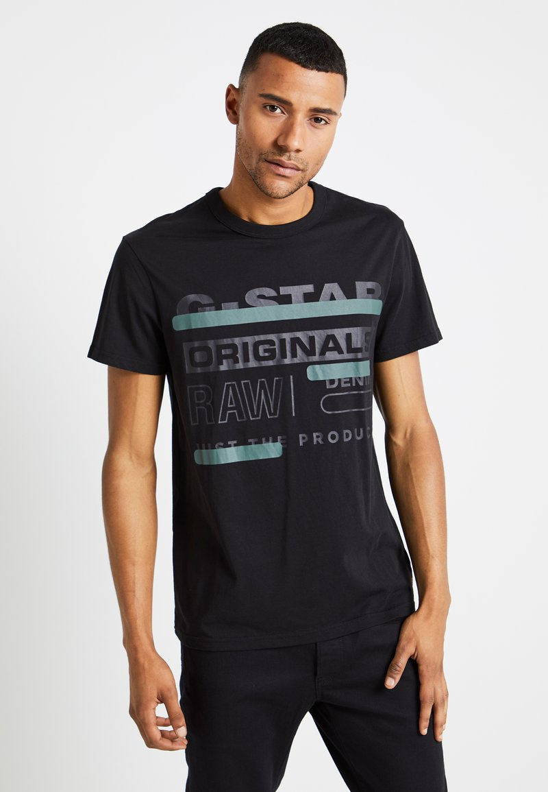 G-Star - REGULAR  - T-shirt print - black