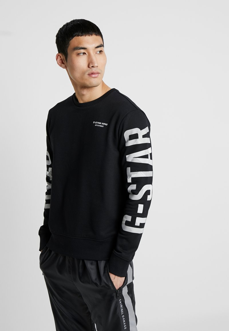 G-Star - CORE R-NECK T L/S - Sweatshirts - black