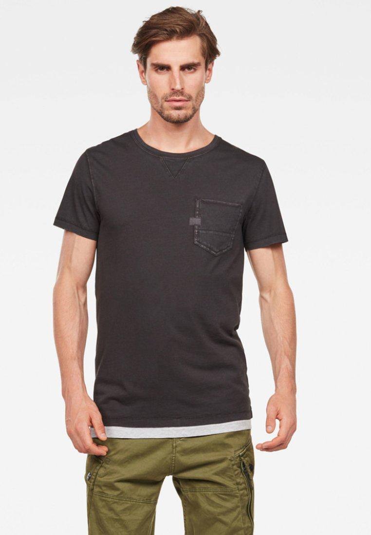 G-Star - MUON POCKET - T-Shirt basic - black