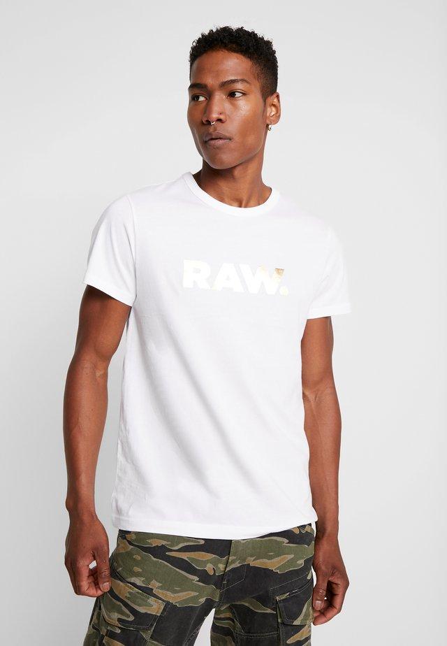 RAW. R T S/S - T-shirt print - white