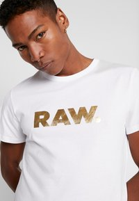 G-Star - RAW. R T S/S - Camiseta estampada - white - 3