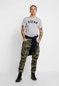 G-Star - GRAPHIC 16 R T S/S - Camiseta estampada - grey heather - 1
