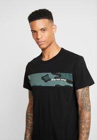 G-Star - RODIS BLOCKO  R T S/S - T-shirt print - dk black - 4