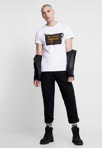 G-Star - ORIGINALS REGULAR R T S/S - T-shirt med print - white - 1
