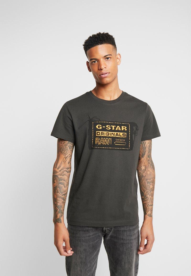 G-Star - ORIGINALS REGULAR R T S/S - Camiseta estampada - raven