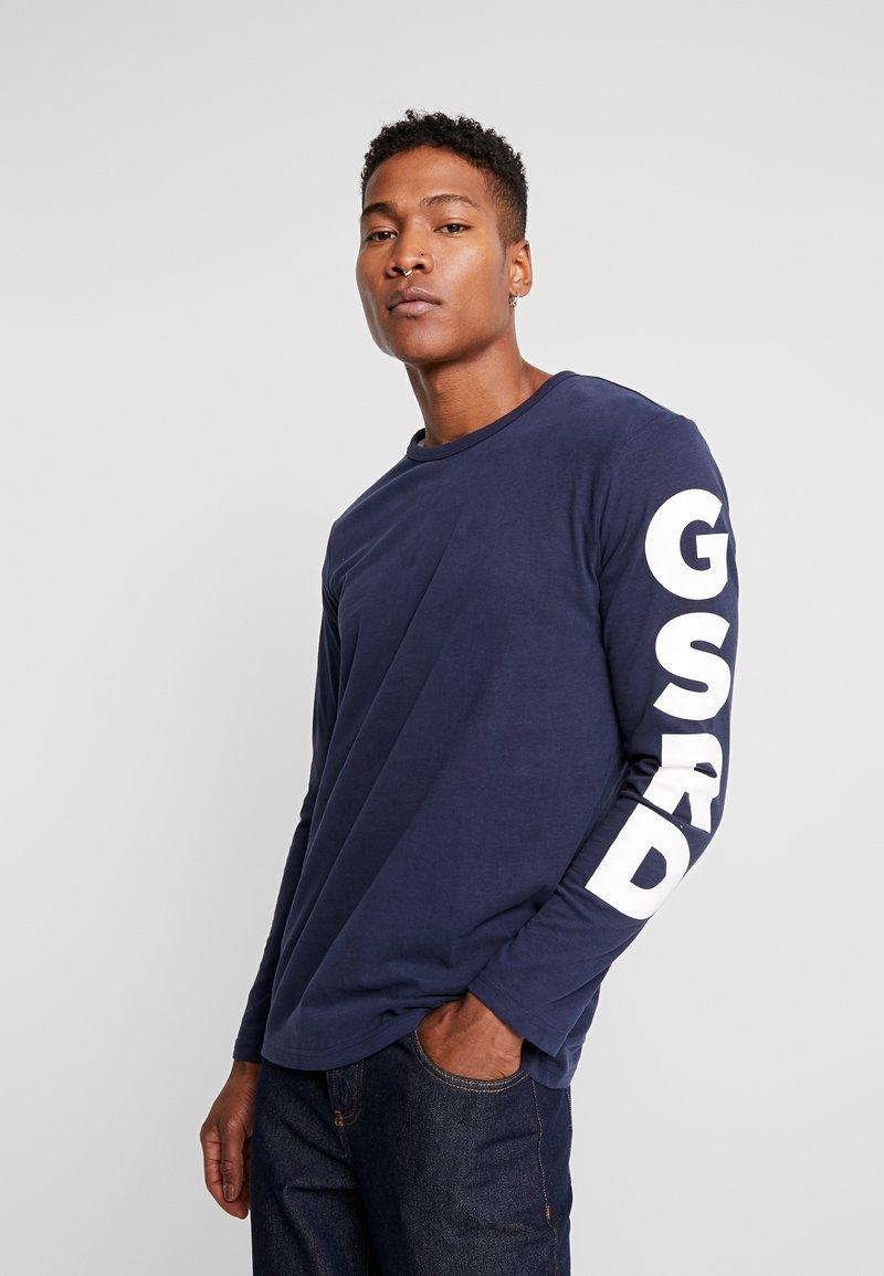 G-Star - GHASU R T L/S - Top sdlouhým rukávem - sartho blue