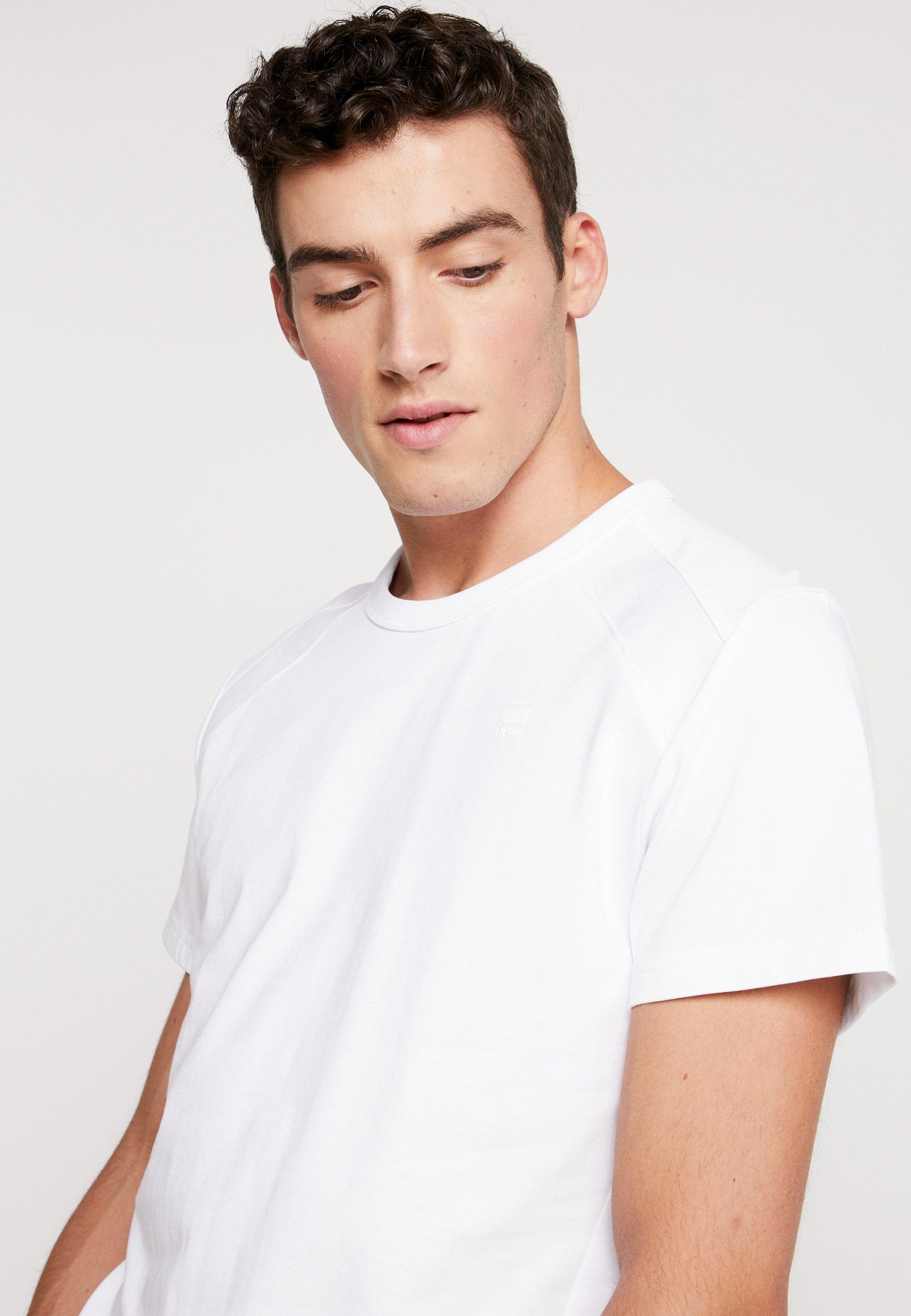G-Star SIPHON MOTAC R T S/S - T-shirt z nadrukiem - white