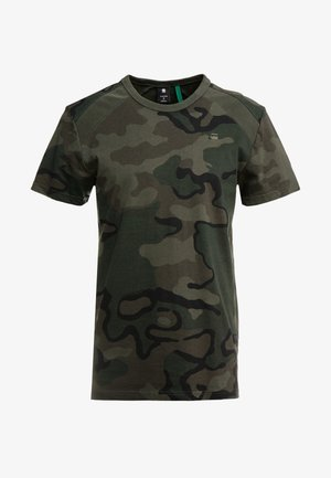 SIPHON MOTAC R T S/S - T-shirt con stampa - dark combat/fearn