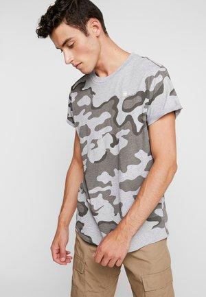SHELO AOP CAMO R T S/S - T-Shirt print - grey