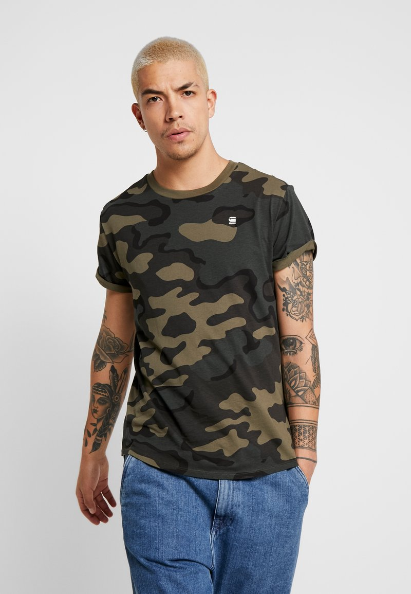 G-Star - SHELO - T-shirt con stampa - black
