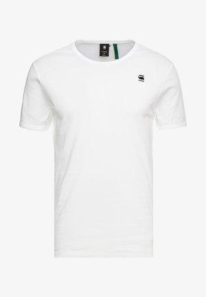 BASE R T S/S - T-shirt basique - white/black