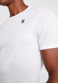 G-Star - BASE R T S/S - Jednoduché triko - white/black - 5