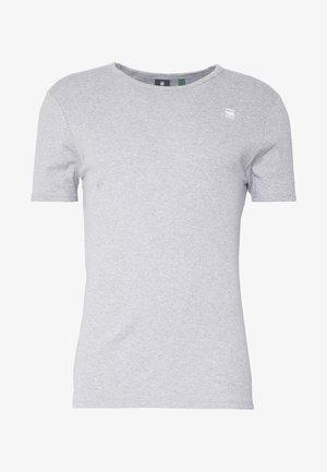 BASE R T S/S - T-shirt basique - grey/white