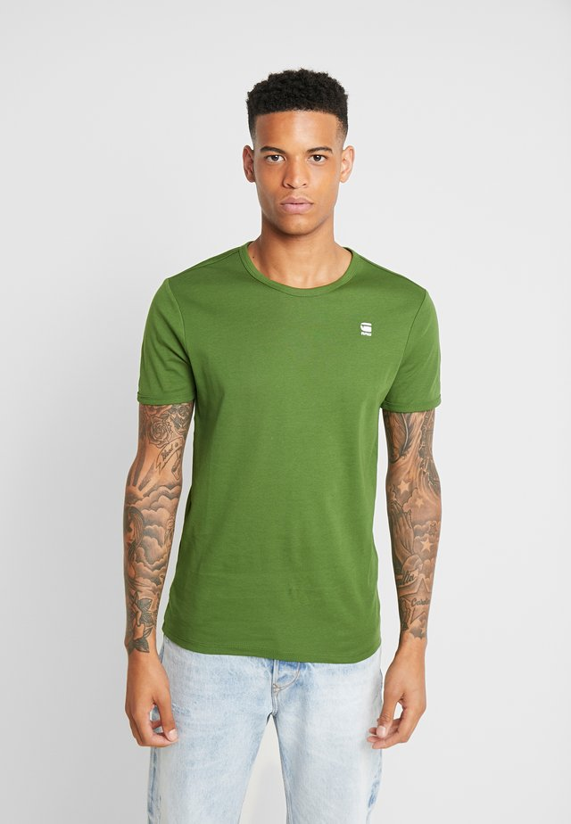 BASE R T S/S - T-shirt basic - kelly green/white