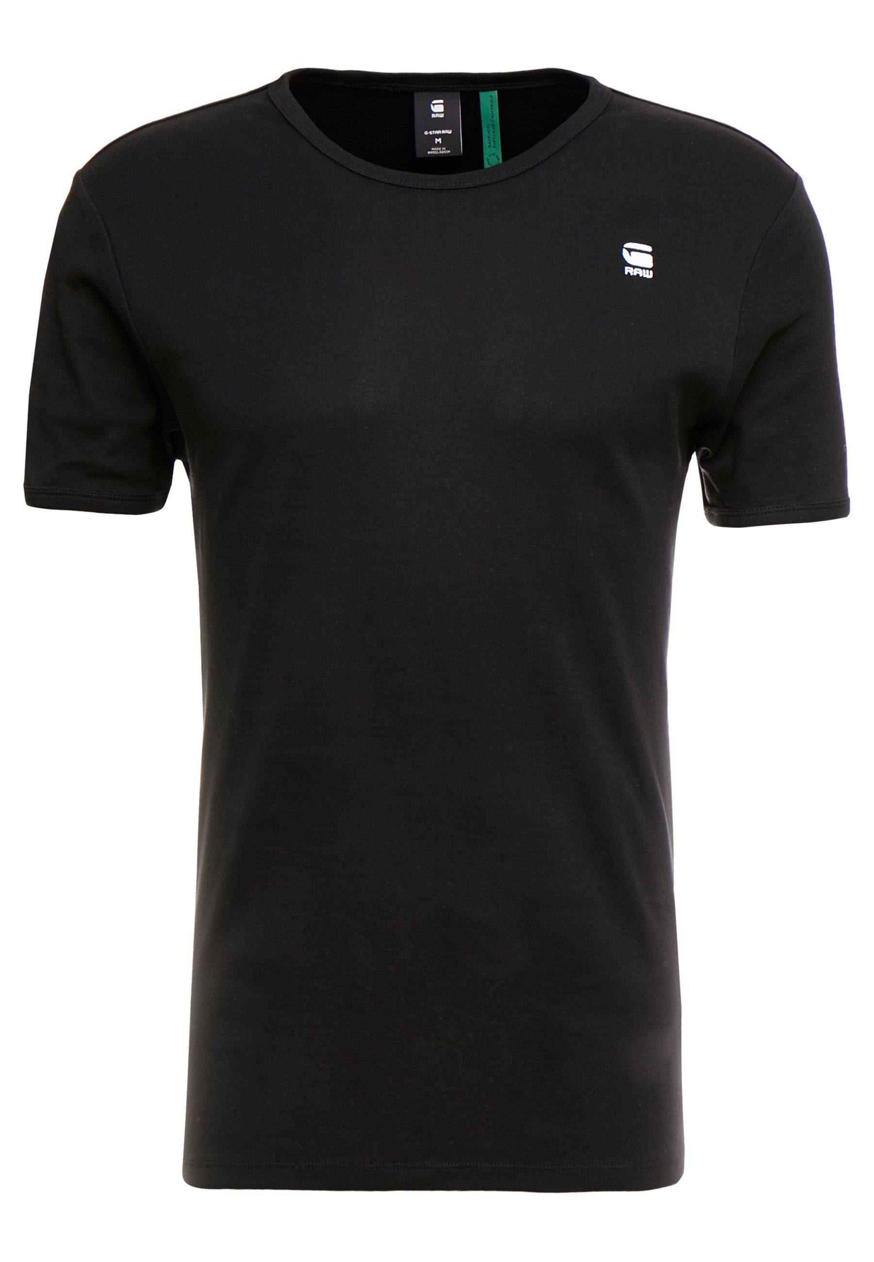 G-Star BASE R T S/S - T-shirt basic - black/white