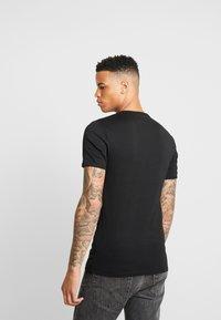 G-Star - BASE R T S/S - T-shirt basic - black/white - 2
