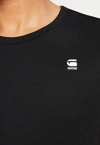 G-Star - BASE R T S/S - T-shirt basic - black/white - 5