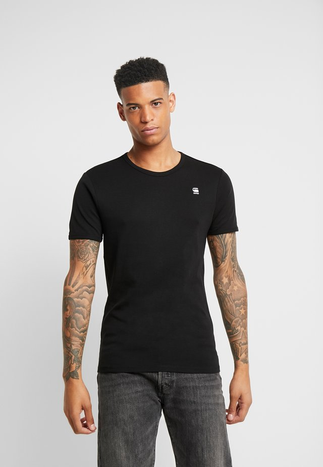 BASE R T S/S - T-Shirt basic - black/white