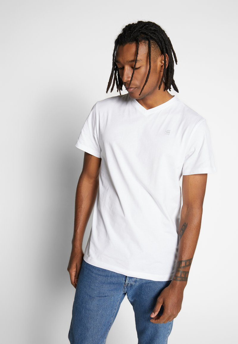 G-Star - BASE-S - Jednoduché triko - white