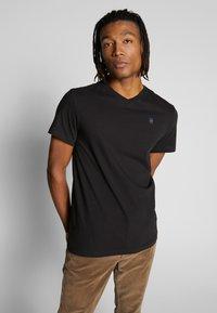 G-Star - BASE-S - T-shirt basic - dark black - 0