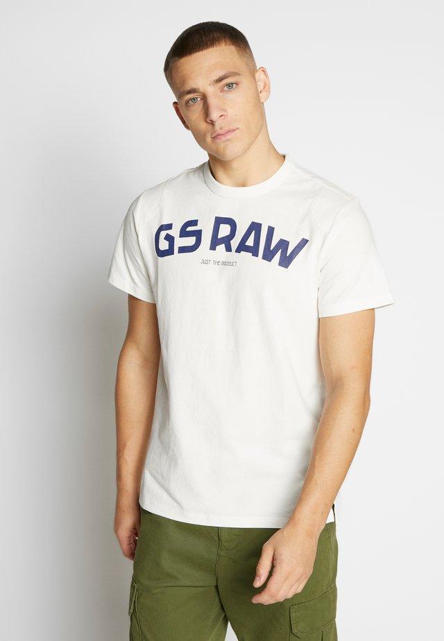 GSRAW - Camiseta estampada - milk