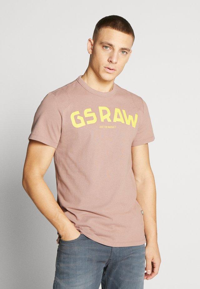 GSRAW - T-shirt print - chocolate berry