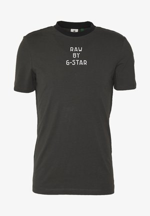 TEXT SLIM - Print T-shirt - raven
