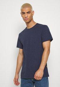G-Star - BASE-S R T S\S - T-shirt basic - sartho blue htr - 0