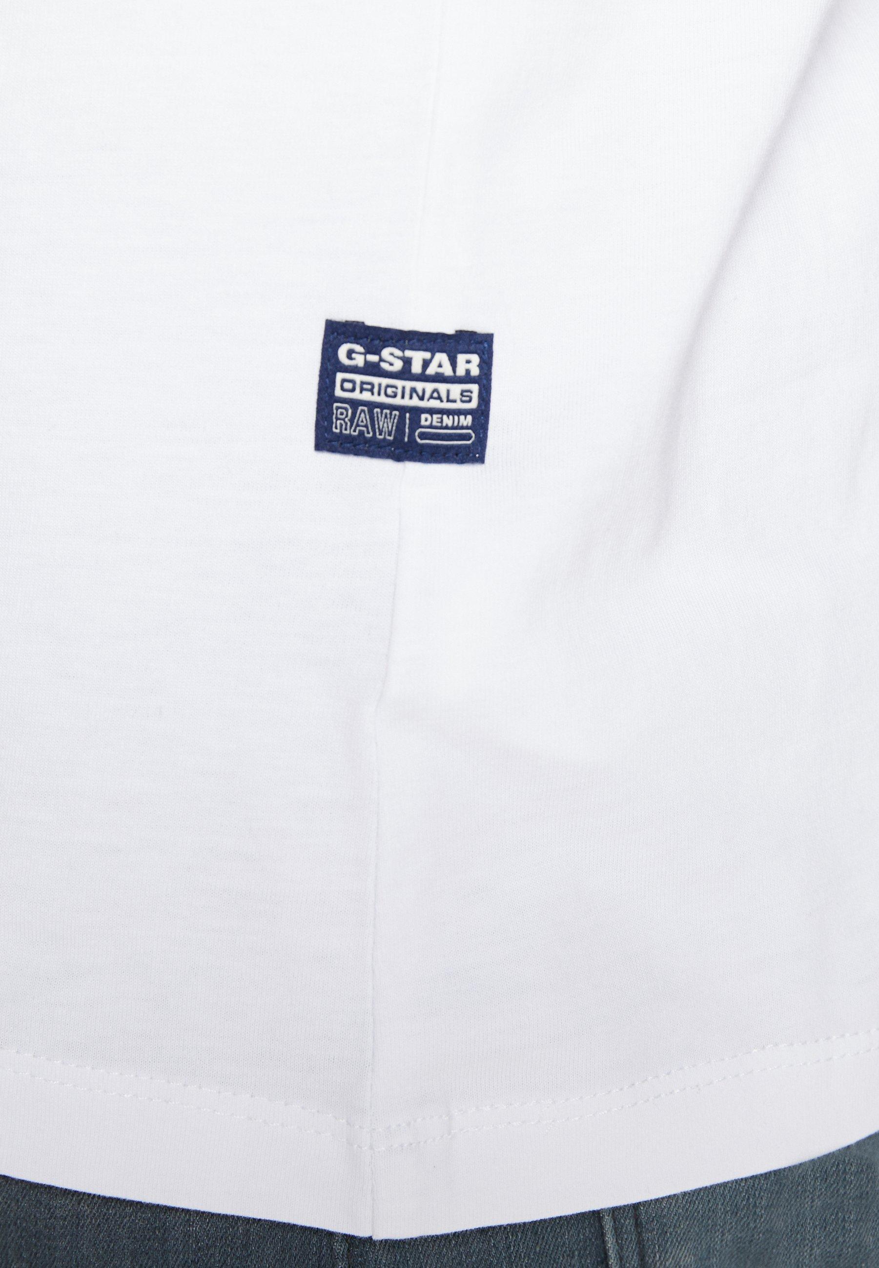 G-Star ORIGINALS LOGO GR - Print T-shirt - white