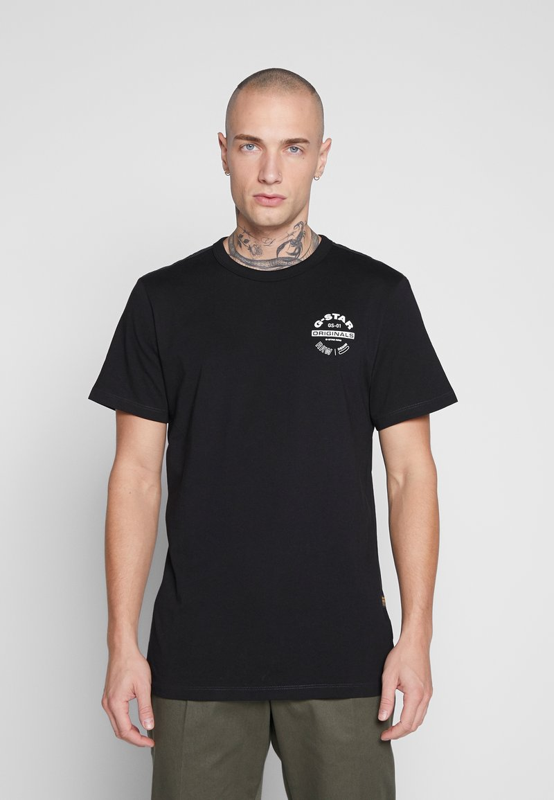 G-Star - ORIGINALS LOGO GR - T-shirt imprimé - black