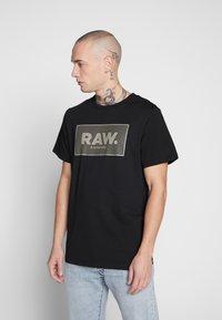 G-Star - BOXED GR - Print T-shirt - black - 0