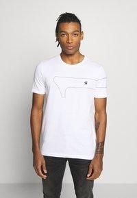 G-Star - ONE SLIM ROUND NECK - T-shirt imprimé - white - 0