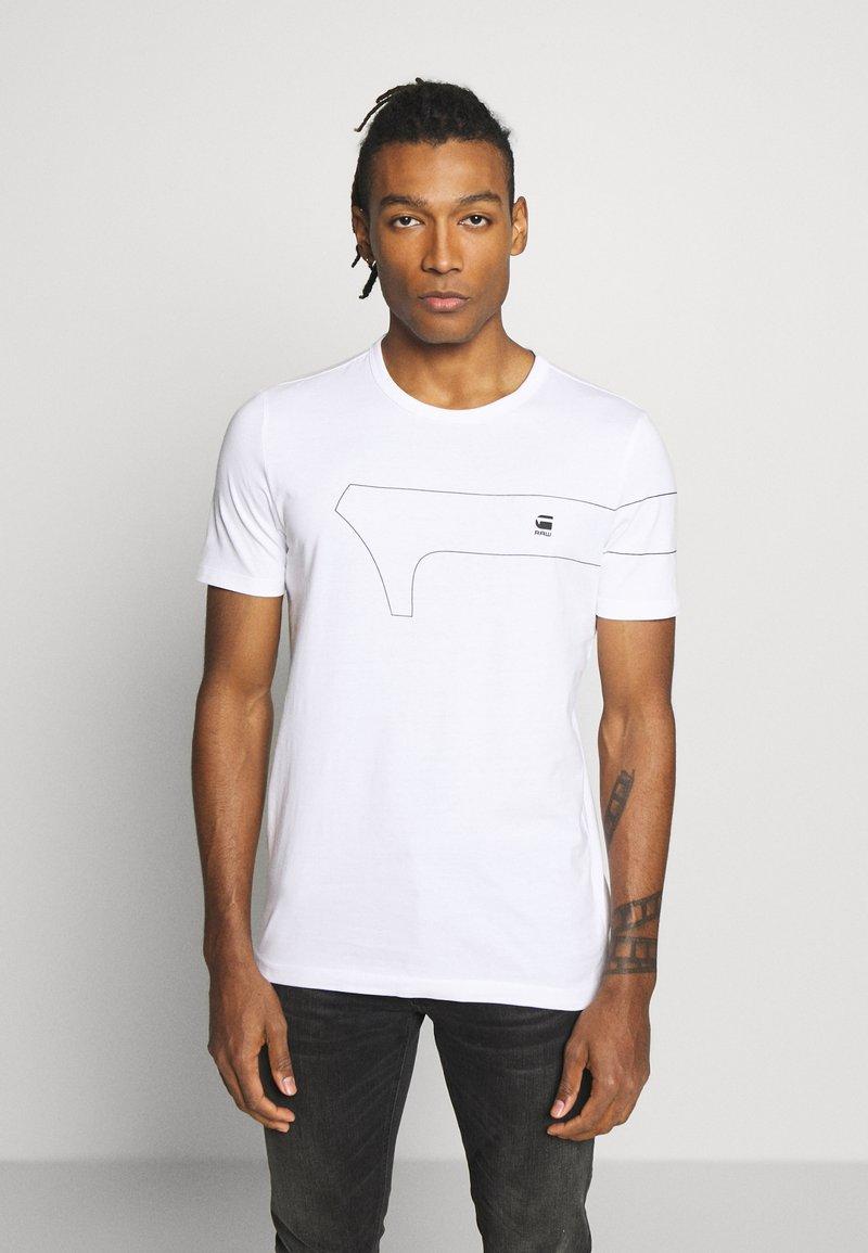 G-Star - ONE SLIM ROUND NECK - T-shirt imprimé - white