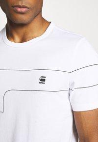 G-Star - ONE SLIM ROUND NECK - T-shirt imprimé - white - 4