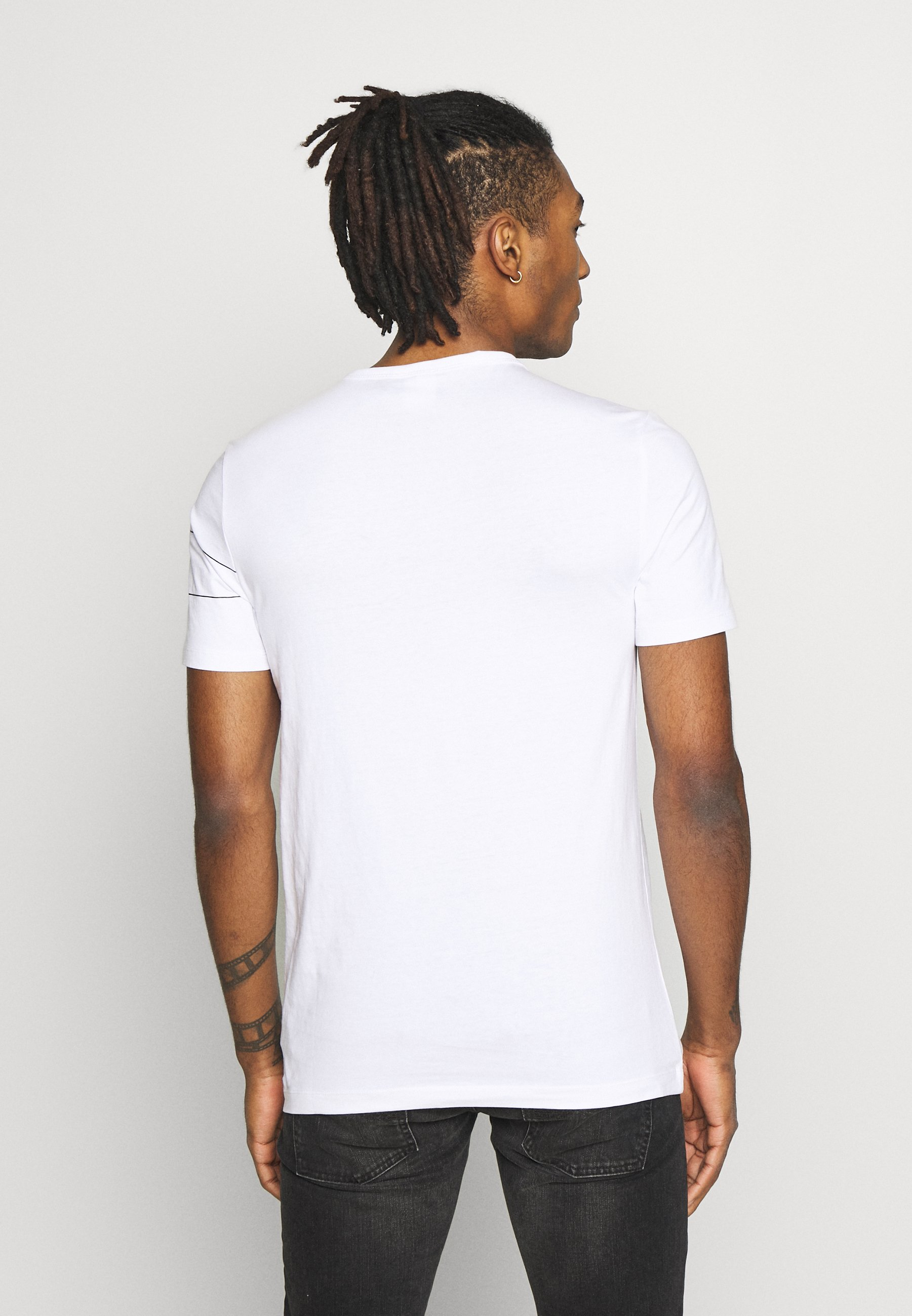G-Star ONE SLIM ROUND NECK - Print T-shirt - white