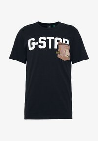 G-Star - GSRAW AO POCKET R T S\S - Camiseta estampada - dark black - 4