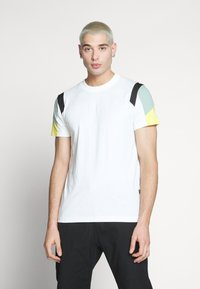G-Star - MOTAC FABRIC MIX R T S\S - Print T-shirt - milk - 0
