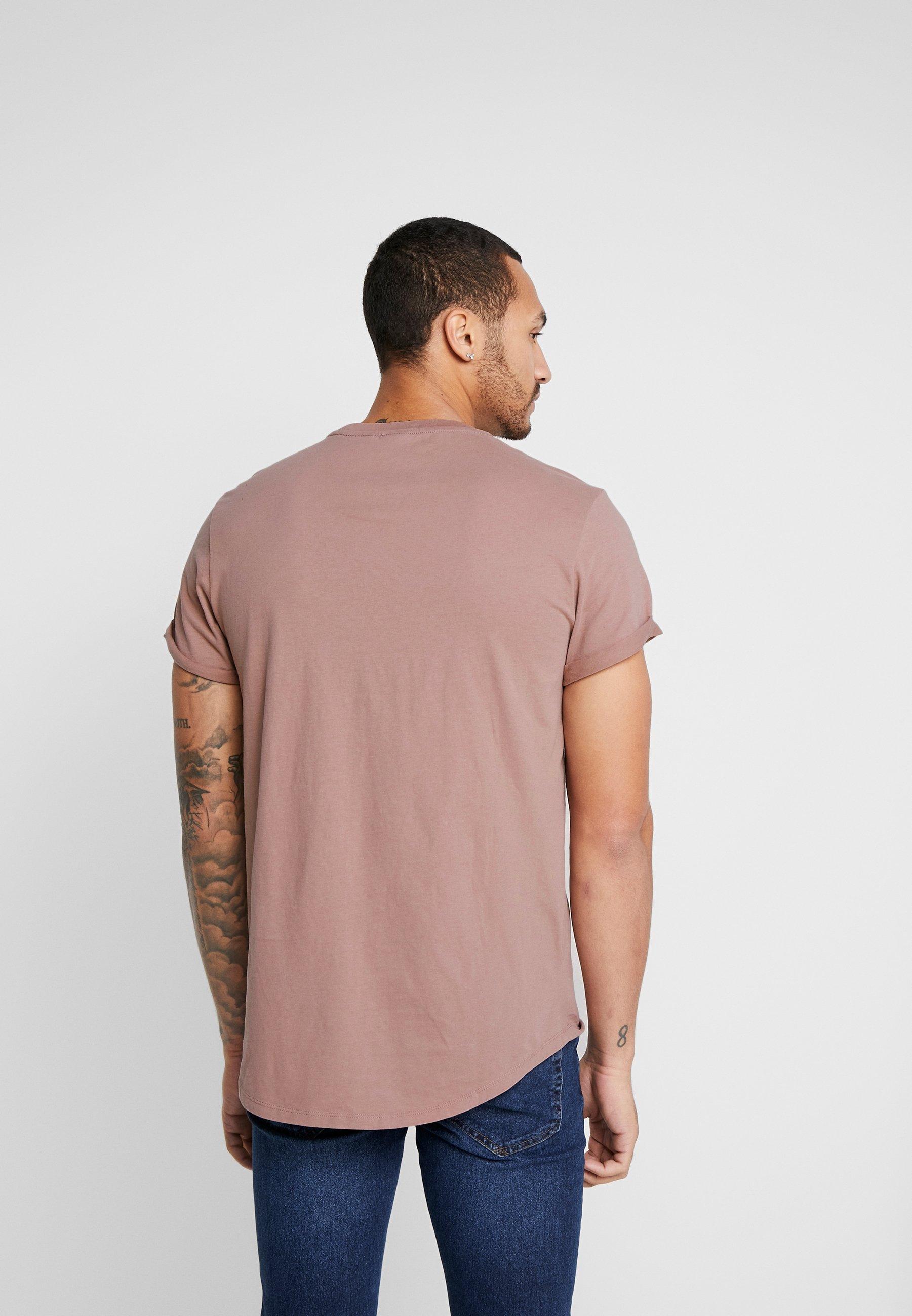 LASH T shirt basic chocolate berry