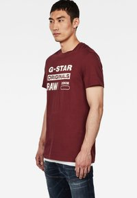 G-Star - GRAPHIC LOGO ROUND NECK - T-shirt print - port red - 2