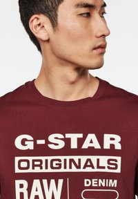 G-Star - GRAPHIC LOGO ROUND NECK - T-shirt print - port red - 3