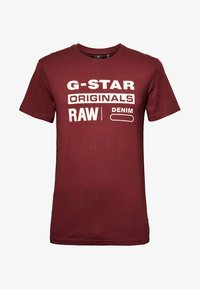 G-Star - GRAPHIC LOGO ROUND NECK - T-shirt print - port red - 5