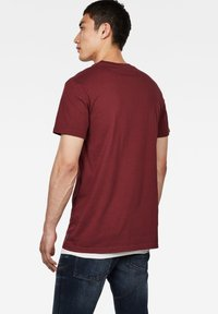 G-Star - GRAPHIC LOGO ROUND NECK - T-shirt print - port red - 1