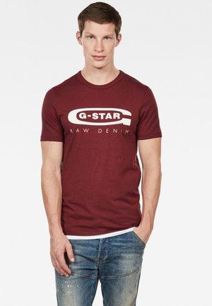 GRAPHIC LOGO SLIM  - T-shirt print - red