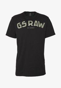 G-Star - GSRAW GR R T S\S - T-shirt med print - dark black - 3