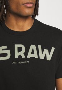 G-Star - GSRAW GR R T S\S - T-shirt med print - dark black - 4