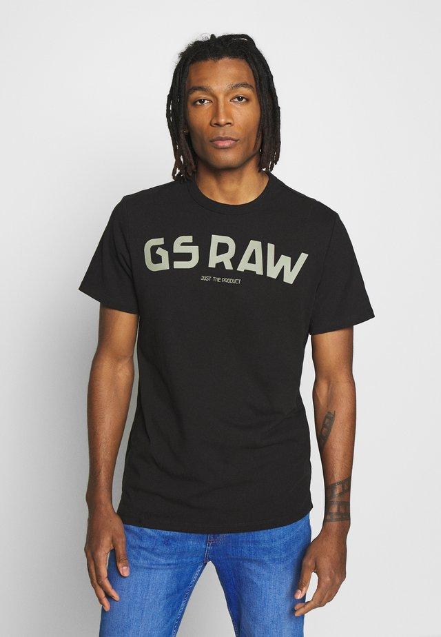 GSRAW GR R T S\S - Camiseta estampada - dark black