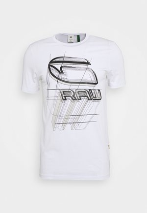 PERSPECTIVE LOGO GR SLIM - T-shirt con stampa - white
